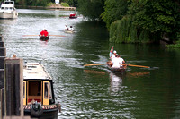 Swan Uppers approach Marlow lock