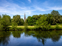 Salisbury Cathedral seen across the River Avon